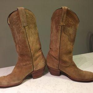 FRYE Suede Western Boots (8.5)